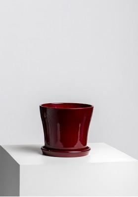 Dibçək Scheurich Planter Dark Red