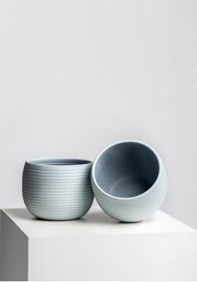 Dibçək Scheurich Cover-Pot Grey Stone